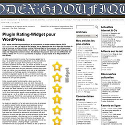 Plugin Rating-Widget pour Wordpress