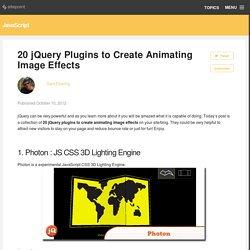 20 jQuery Plugins to Create Animating Image Effects
