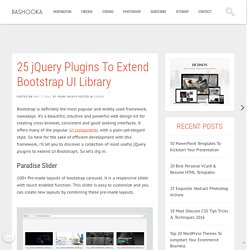 25 jQuery Plugins To Extend Bootstrap UI Library
