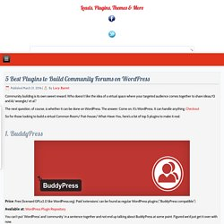 5 Best Plugins to Build Community Forums on WordPress