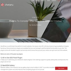 Plugins To Consider After Your First Website Creation - Chetaru