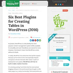 The Six Best Plugins for Creating Tables in WordPress (2016)