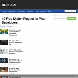 10 Free Sketch Plugins for Web Developers - Hongkiat