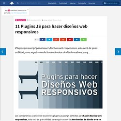 11 Plugins JS para hacer diseños web responsivos