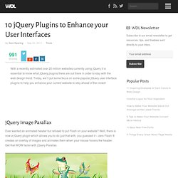 10 jQuery Plugins to Enhance your User Interfaces