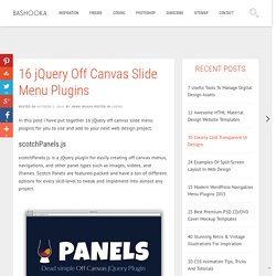 16 jQuery Off Canvas Slide Menu Plugins