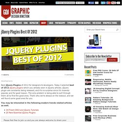 jQuery Plugins Best Of 2012