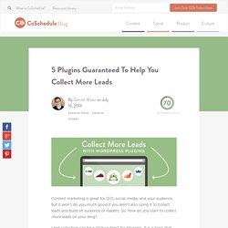 5 Plugins Guaranteed To Help You Collect More Leads