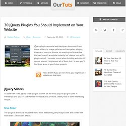 30 jQuery Plugins You Should Implement on Your Website - OurTuts.com