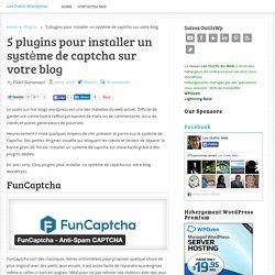5 plugins pour installer un système de captcha sur votre blog