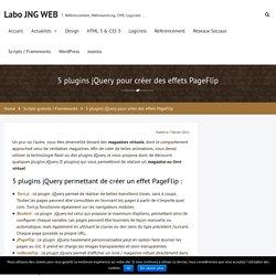 5 plugins jQuery pour créer des effets PageFlip