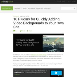 10 Plugins for Quickly Adding Video Backgrounds to Your Own Site