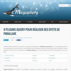 9 plugins jQuery pour réaliser des effets de parallaxe