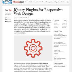 jQuery Plugins for Responsive Web Design