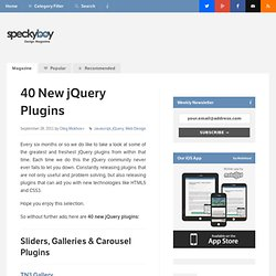 40 New jQuery Plugins