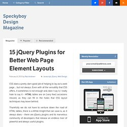 15 jQuery Plugins for Better Web Page Element Layouts