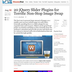 20 jQuery Slider Plugins for Terrific Non-Stop Image Swap
