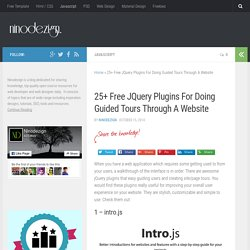 25+ Free JQuery Plugins For Doing Guided Tours Through A Website - ninodezign.com