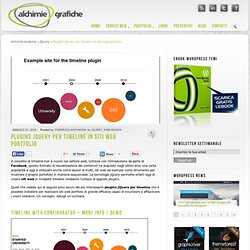 Plugins jQuery per timeline in siti web portfolio