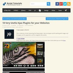 10 Very Useful Ajax Plugins for your Websites