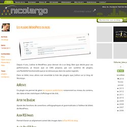 Les plugins Wordpress du blog