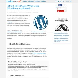 4 Must-Have Plugins When Using Wordpress as a Portfolio