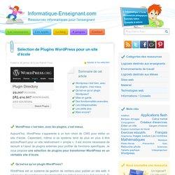 Plugins Wordpress pour un site d'école