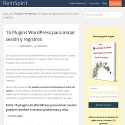 15 Plugins Wordpress para iniciar sesión y registros