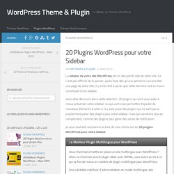 20 Plugins WordPress pour votre Sidebar