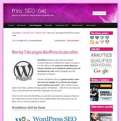 Mon top 7 des plugins Wordpress les plus utiles
