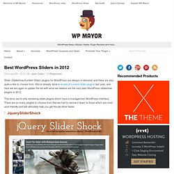 Best Slider Plugins for WordPress in 2012 - WPMayor