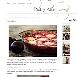 The Pastry Affair - Home - Plum Clafouti