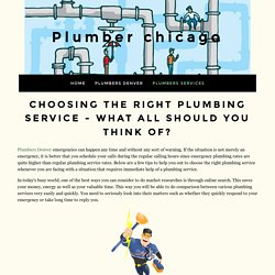Plumbing services in chicago