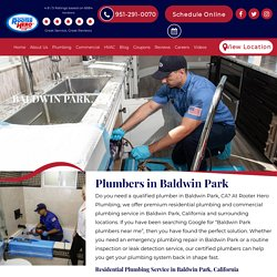 Dependable Plumbers in Baldwin Park, CA