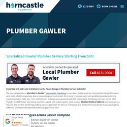 Plumber Gawler: Emergency Plumber in Gawler, Blocked Drains & Hot Water Repairs