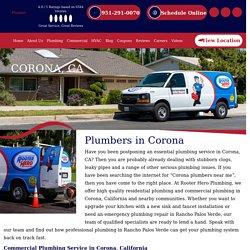 Emergency Local Plumbers in Corona, CA