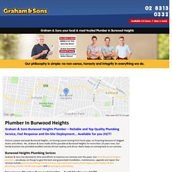 Emergency Plumber Burwood Heights – Graham & Sons Plumbing