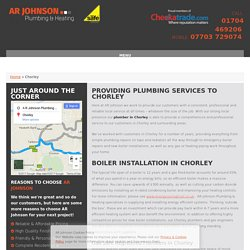 Plumber & Boiler Installation in Chorley - AR Johnson