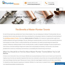 Master Plumber Toronto - Toronto Plumbers Group