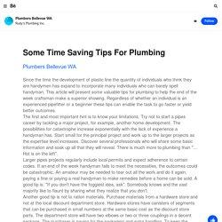 Plumbers Bellevue WA on Behance