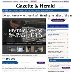 Do you know who should win Heating Installer of the Year Award?
