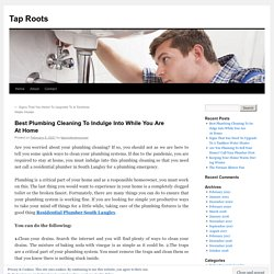 Best Plumbing Cleaning To Indulge Into While You Are At Home