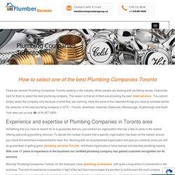 Best Plumbing Companies in Toronto