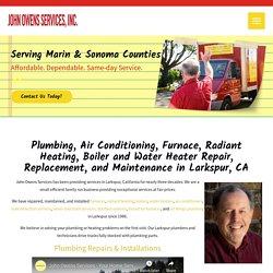 Plumbing, Heating, Air Conditioning, and Furnace Repair in Larkspur, CA