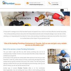 Best Plumbing Contractors Toronto