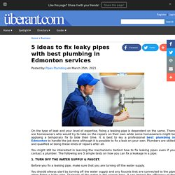 5 ideas to fix leaky pipes with best plumbing in Edmonton services