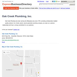 Oak Creek Plumbing, Inc.