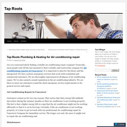 Tap-Roots Plumbing & Heating for Air conditioning repair