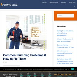 Common Plumbing Problems & How to Fix Them-Plumbing repair services