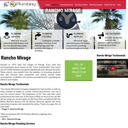Plumber Rancho Mirage